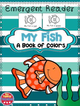 Fish Emergent Reader Colors Preschool Kindergarten