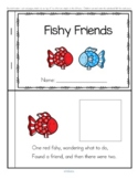 Fish Friends Rhyming Emergent Reader Cut and Paste - A Friendship Rainbow FREE