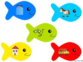 Fish Ending Sounds Matching Small Group Activity