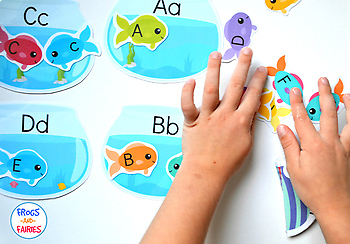 Fish & Fishbowls Upper and Lower Case Letter Match