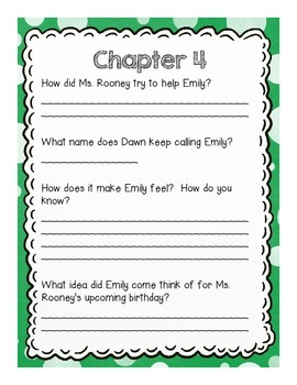 Fish Face Comprehension Questions by Chapter