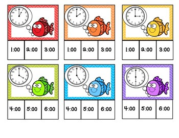 Fish Facts: Time Clip Cards