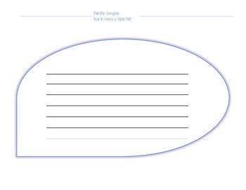 Fish Fin Template for Classroom Community Building  with Lesson Plan