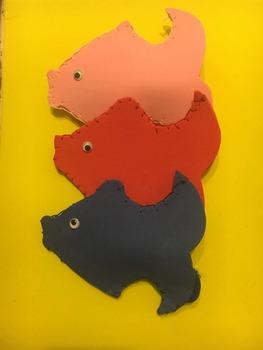 Fish Finger Foam Puppets