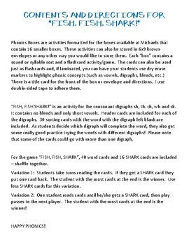 Fish, Fish, Shark - Phonics Box #2 - Digraphs