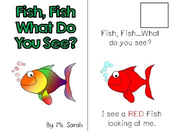 Fish, Fish-What Do You See? Adapted Book