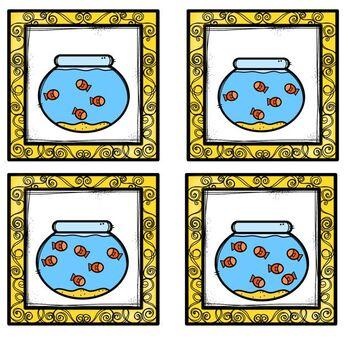 Fish & Fishbowl Number Match Up Math Center