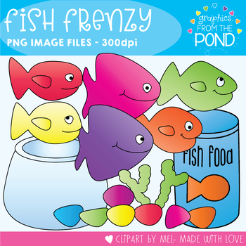 Fish Frenzy Clipart Set for Teachers and Classrooms