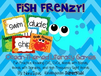 Fish Frenzy!  Ocean Animals Literacy Games