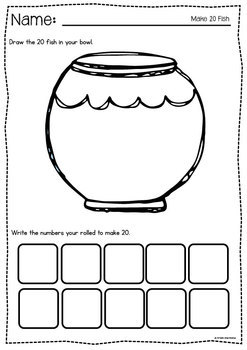 Fish Frenzy - Printable Packet of 5 Early Number Math Activities