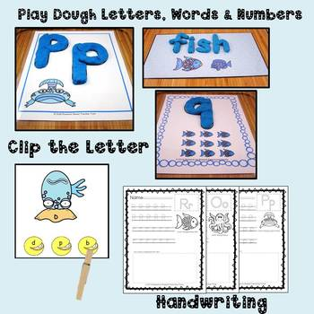 Rainbow Fish &The Pout Pout Fish:  Literacy & Math Center Activities