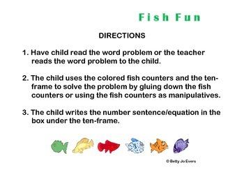 Fish Fun Word Problems 1-10