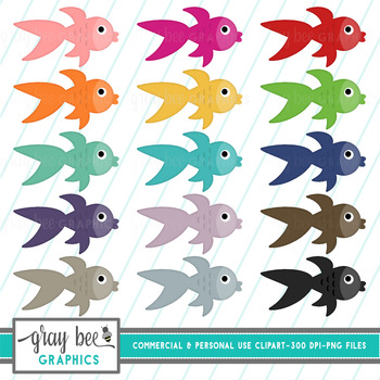 Fish- Goldfish Clip Art Pack