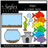 Fish Clipart {A Hughes Design}
