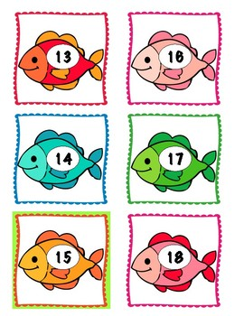 Fish Growing Number Line