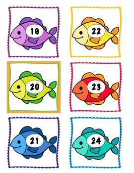 Fish Growing Number Line - Free Sample!