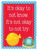 """Fish Growth Mindset Posters - 8.5""""x11"""", 18""""x24"""" - Ready for Printing"""