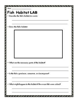 Fish Habitat (Lab sheet)