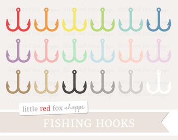 Fish Hook Clipart; Fishing, Lure