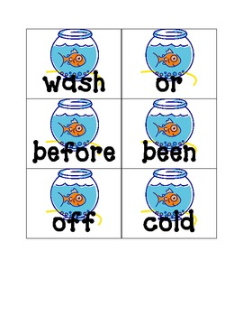Fish Hook Sight Word Game