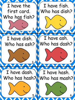 I Have Who Has 'sh' Fish