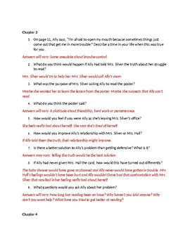 Fish In A Tree Answer Key Chap 1-10