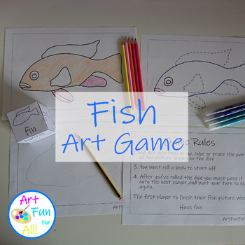 Fish Inclusive Art Game Color Trace Or Draw By Art Fun For All