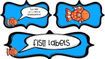 """Fish Labels~""""You are o""""fish""""ally in ___ grade!"""