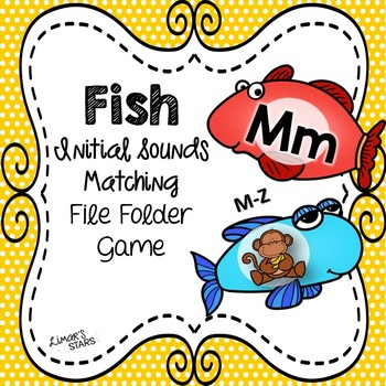 Fish Letter to Initial Sound File Folder Game M-Z