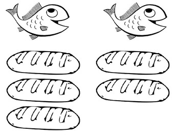 image regarding Printable Loaves and Fishes called Fishes And Loaves Worksheets Training Components TpT