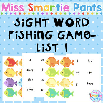 Fish Mania Sight Word Fishing Game List 1