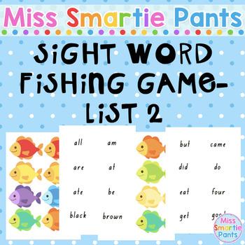 Fish Mania Sight Word Fishing Game List 2