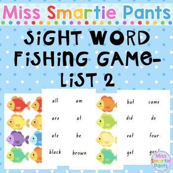 Fish Mania Sight Word Fishing Game List 2