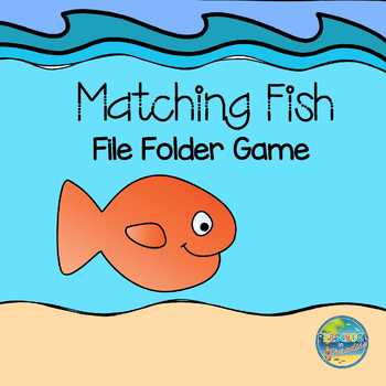 Fish Matching File Folder Game