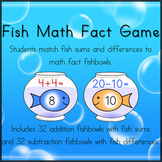 Fish Math Fact Matching Game -- Math Center Activity