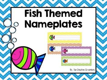 Nameplates / Deskplates / Classroom Labels {Fish}