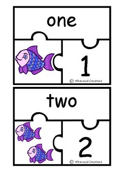 Fish Number Puzzles (1-10)