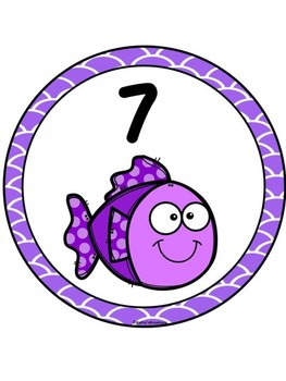 Fish/Ocean Theme Table Numbers 1-8