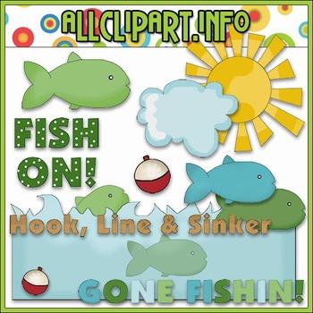 Fish On Clip Art - Cheryl Seslar Clip Art