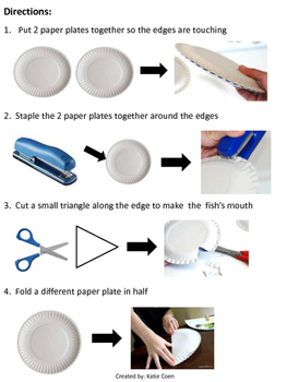 Fish Paper Plate - Visual Directions - Art Project