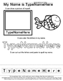 Fish - Part of Family - Name Practice Editable Sheet - #60