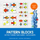 Fish Pattern Blocks Task Cards and Data Sheets