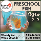 Fish Preschool Unit - Printables for Preschool, PreK, Homeschool Preschool