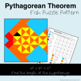 Pythagorean Theorem (Find Hypotenuse) Color Mystery Pattern