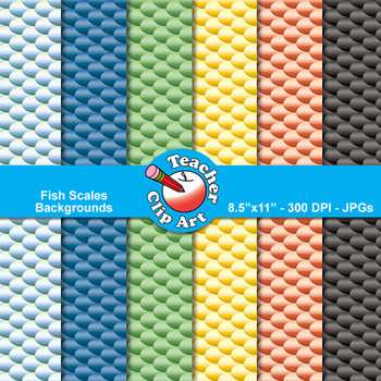 Fish Scales Backgrounds Clip Art