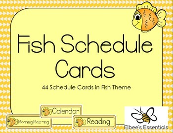 Fish Schedule Cards