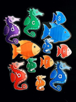 Fish / Seahorse Ocean Letter Classroom Decorations