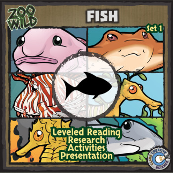 Fish - Set 1 - Leveled Reading, Slides & Activities