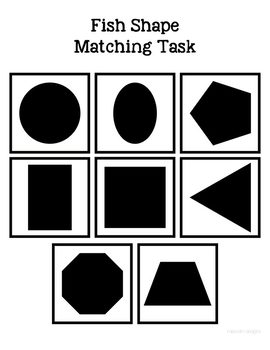 Fish Shape Match File Folder Game for Special Education