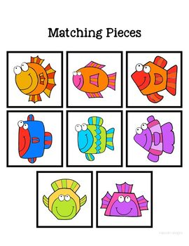 Folder Game: Fish Shape Matching for Students with Autism & Special Needs